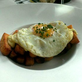 Duck Fat Fries With Egg - The Grey Plume, Omaha, NE