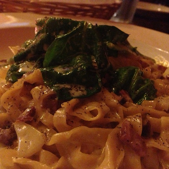 Tagliatelle With Brie And Speck - Scottadito Osteria Toscana, Brooklyn, NY
