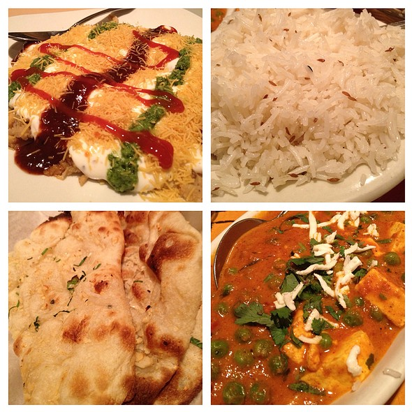 Matar Paneer Et Al - Shalimar Restaurant, Ann Arbor, MI