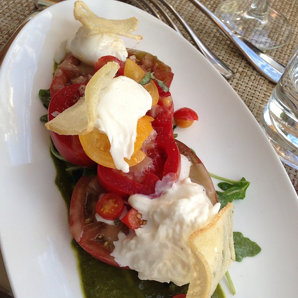 Heirloom Tomato Salad With Buratta - El Dorado Kitchen, Sonoma, CA