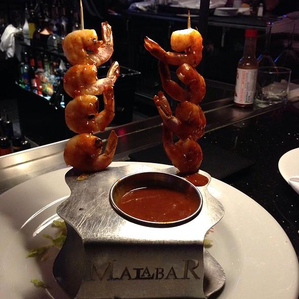 Shrimp Diablo Skewers - Malabar American Cooking, Sacramento, CA