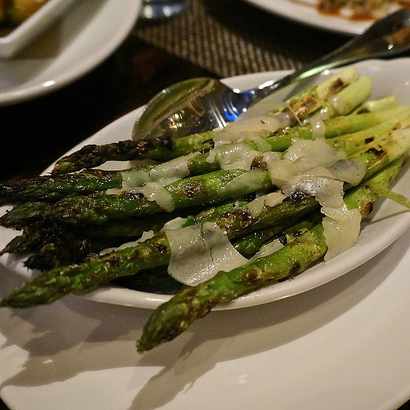 Grilled asparagus, lemon, parmigiano, vegetables side dish - The Florentine, Chicago, IL