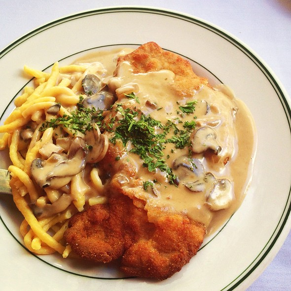 Jagerschnitzel And Spaetzle - Teske's Germania Restaurant, San Jose, CA