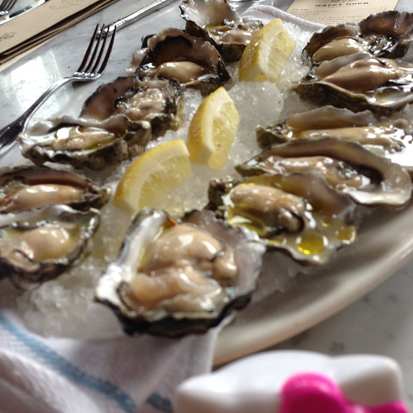 Fresh Oysters With Mignonette - Local 360 Cafe & Bar, Seattle, WA