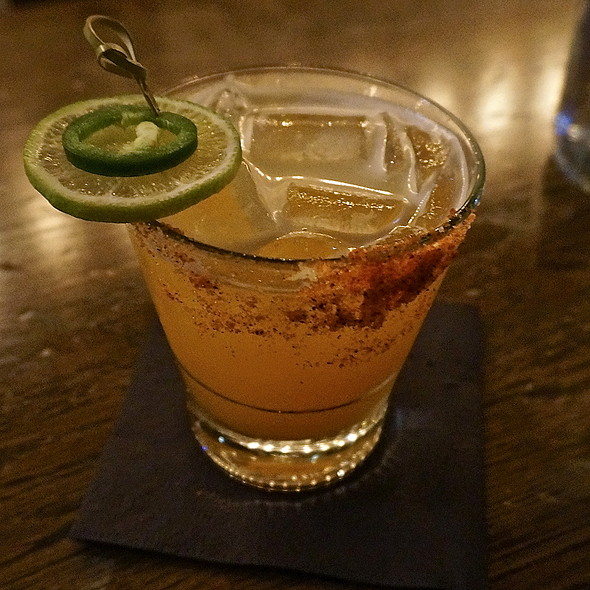 Caliente Margarita – lime, agave, chipotle, morita, Cointreau, Corazon Blanco - Takito Kitchen - Wicker Park, Chicago, IL