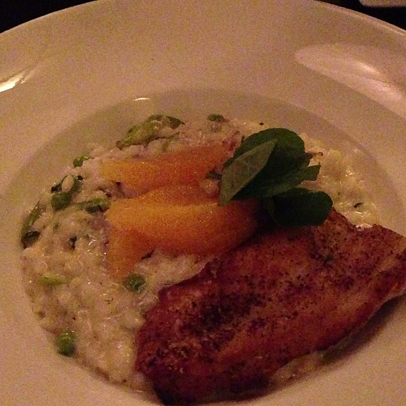 Risotto With Blackened Sea Bass - Vita, Denver, CO