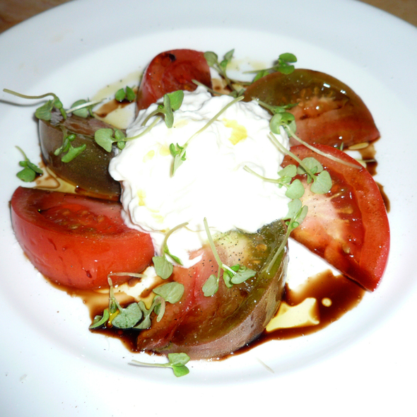 Burrata and Heirloom Tomato Salad - The Restaurant at The Standard, Downtown LA, Los Angeles, CA