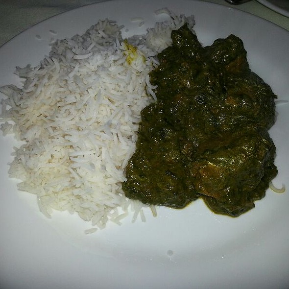 Lamb Saag With Basamati Rice - Tandoor & Co. Restaurant, Rego Park, NY