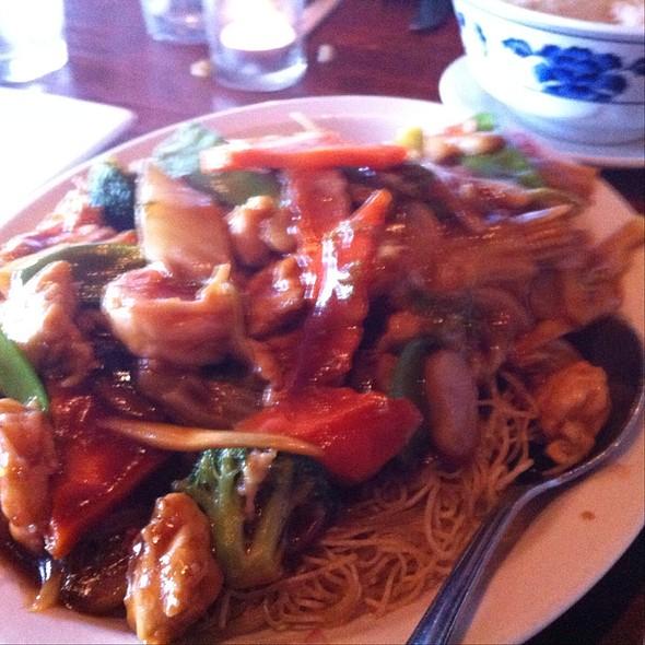 Canton Pan Fried Noodles - Kam's Wok Wine Dine, Houston, TX