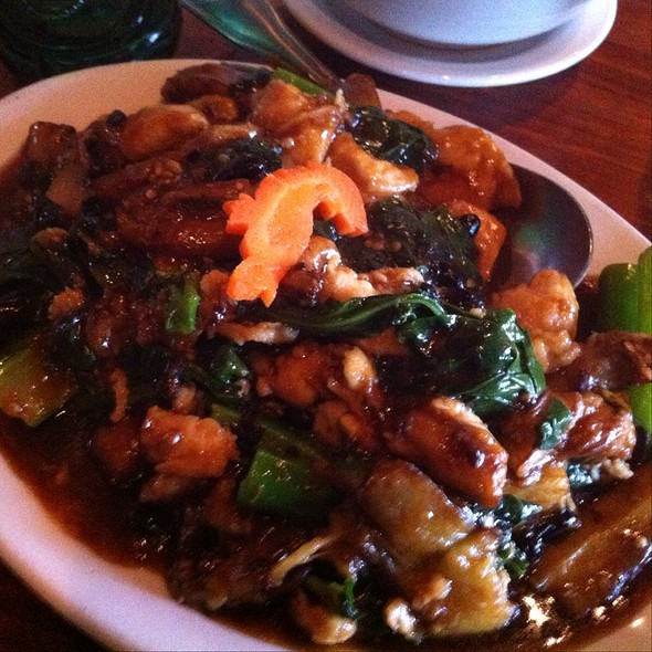 Egg Plant Gai Lan - Kam's Wok Wine Dine, Houston, TX