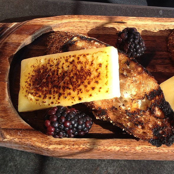 Aged White Cheddar With Blackberry Honey And Grilled Baguette - Six Seven Restaurant & Lounge, Seattle, WA