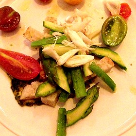 Asparagus Tomato Panzanella Lump Crab Pistou And Lemon Oil - Southerly Restaurant and Patio, Mount Pleasant, SC