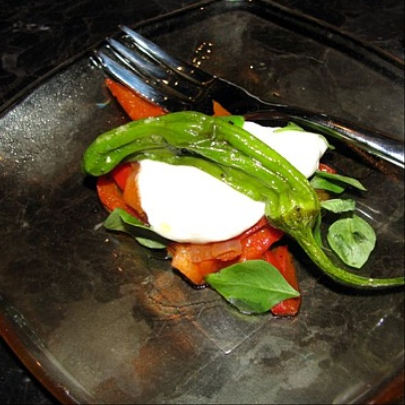 Burrata e Peperonata - Culina, Los Angeles, CA