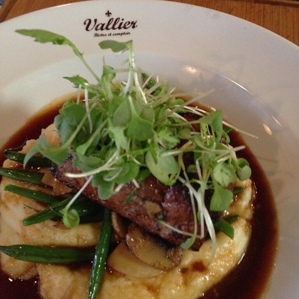 calf's liver with mash, green beans. wasn't too keen on the texture of the calf's liver! ate this at a special yelp elite event - a taster menu. #instagramer - Vallier, Montreal, QC