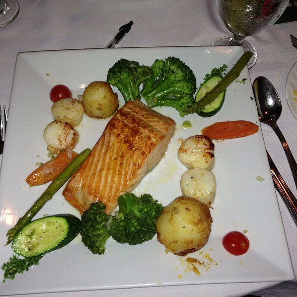 Salmon And Scallops - Adega Grill, Newark, NJ