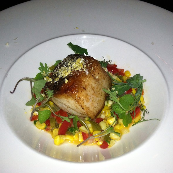 Wild Striped Bass, Rosemary Smoke Succotash - M Restaurant at the Morris House, Philadelphia, PA