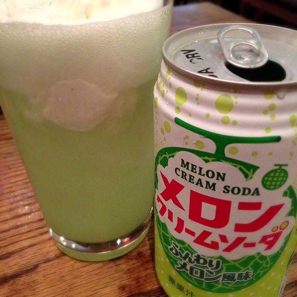 Melon Cream Soda Float - Gyu-Kaku - Topanga Canyon, Canoga Park, CA