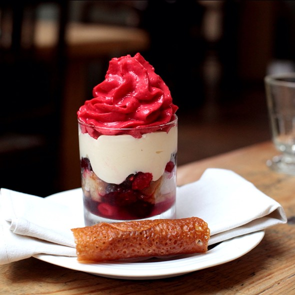 Raspberry & Blackberry Trifle - Harwood Arms, London