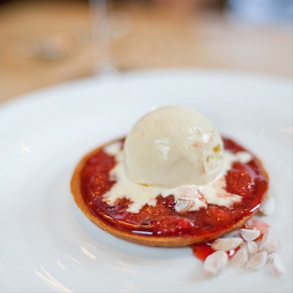 Strawberry Jam Tart With Ice Cream - Harwood Arms, London