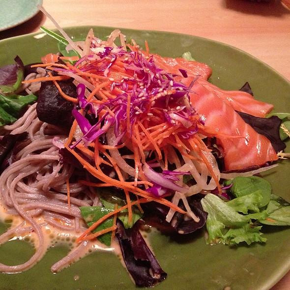 Soba Salad With Salmon - Restaurant Nippon, New York, NY