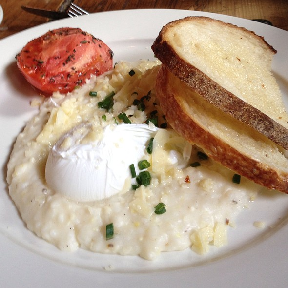 Cheddar Cheese Grits with Poached Eggs - Freemans, New York, NY