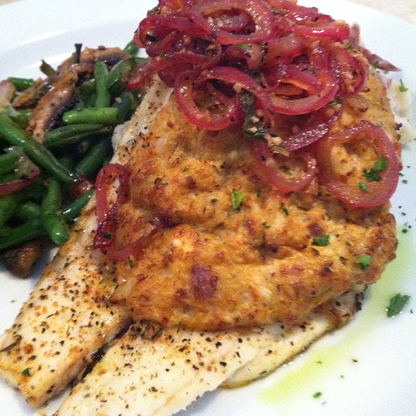 Blue Crab Stuffed Flounder - The Bistro at Just Baked, Surf City, NC