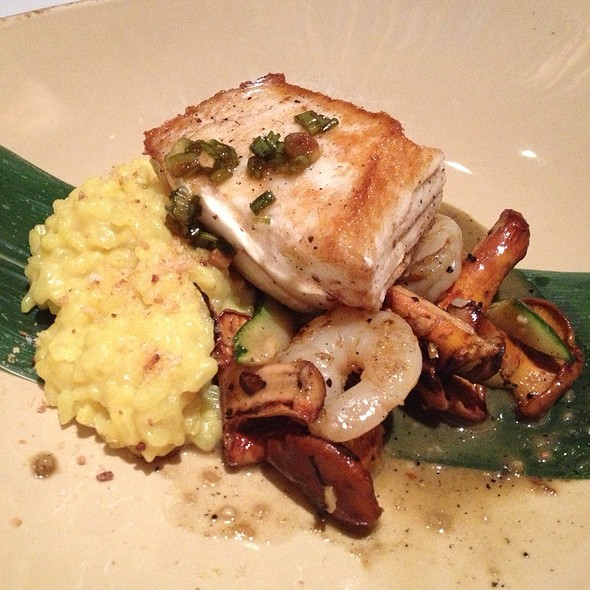 Halibut With Shrimp And Coconut Risotto - SOBA Lounge, Pittsburgh, PA
