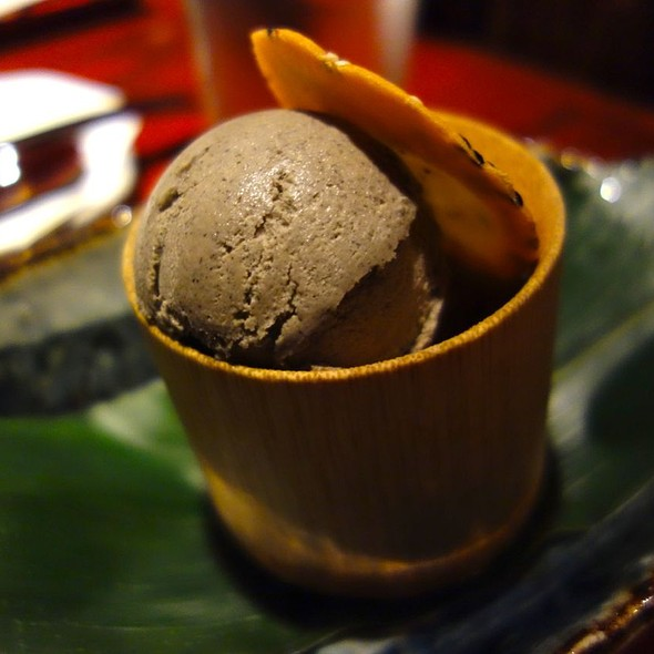 frozen black sesame mousse - Zenkichi, Brooklyn, NY