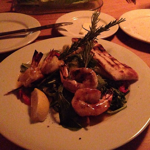Grilled Rosemary Skewered Prawns - Parkside Grille, Portola Valley, CA