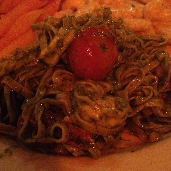 Linguini With Calamari, Cherry Tomatoes And Pesto - Lidia's Pittsburgh, Pittsburgh, PA