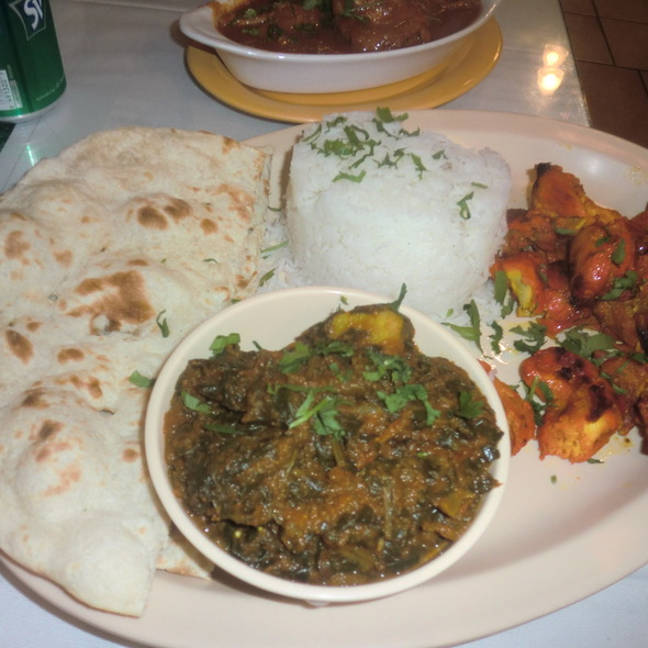 Indian Food Plate - Mayura Restaurant, Culver City, CA