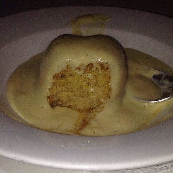 Treacle Pudding With Vanilla Bean Sauce - Simpson's In The Strand, London