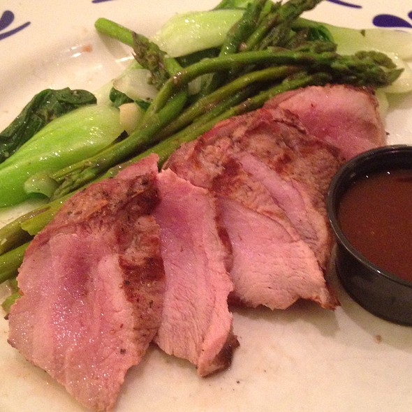 Wild Boar Chops With Bok Choy, Asparagus And House Steak Sauce - Blue Canyon Kitchen & Tavern - Twinsburg, Twinsburg, OH