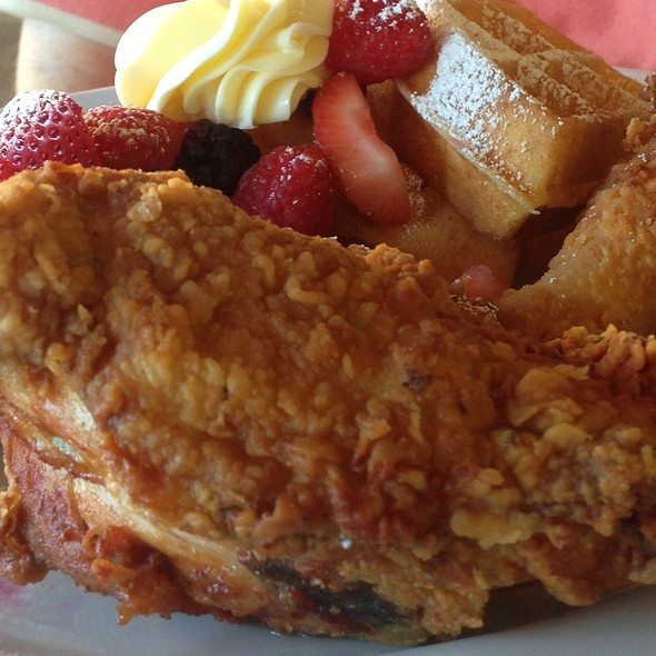 Chicken and Waffles - Stonehouse at San Ysidro Ranch, Santa Barbara, CA