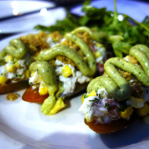 Crab Stuffed Poblano Peppers - Las Palmas Restaurant, Chicago, IL