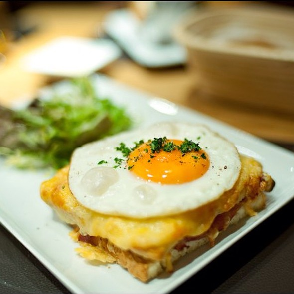 Croque Madame - Bar Boulud at Mandarin Oriental Hyde Park, London