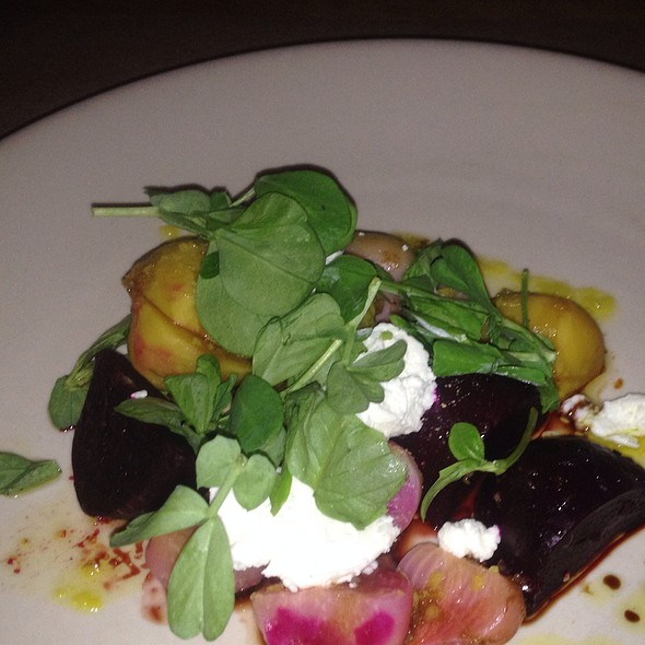 Warm Beet Salad, Fresh Local Goat Cheese, Lemon Oil - J&G Steakhouse Scottsdale at The Phoenician, Scottsdale, AZ