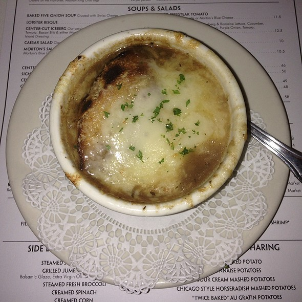Baked Five Onion Soup - Morton's The Steakhouse - Northbrook, Northbrook, IL