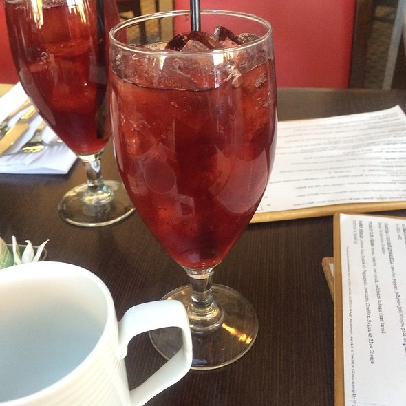 Hibiscus Ginger Tea - Top of the Rock Restaurant at the Marriott Buttes Resort, Tempe, AZ