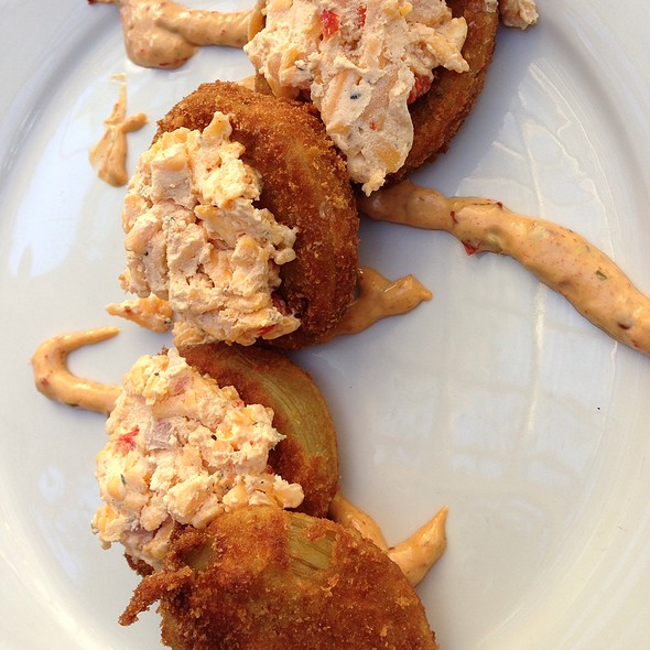Fried Green Tomatoes W/ Pimiento Cheese - Eli's Table, Charleston, SC