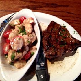 Sirloin With Fresh Mozarella Side - Geske's Fire Grill, El Paso, TX