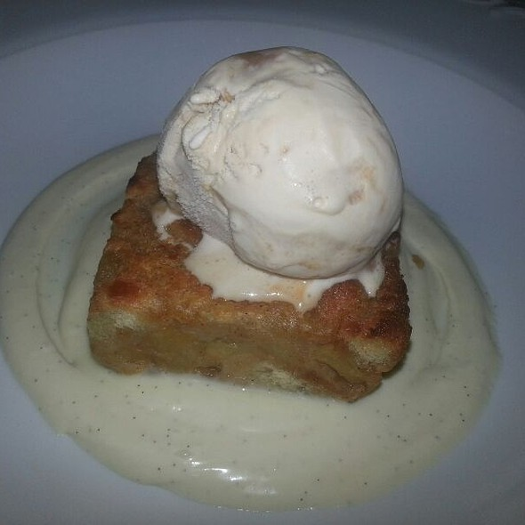 Caramel Apple Bread Pudding With Salted Csramel Ice Cream - The Pressroom Restaurant, Lancaster, PA