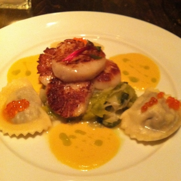 Sea Scallops and Mushroom Ravioli - Zee Grill, Toronto, ON