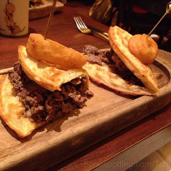 Cheesesteak Waffle Sandwich - Max Brenner - Boston, Boston, MA