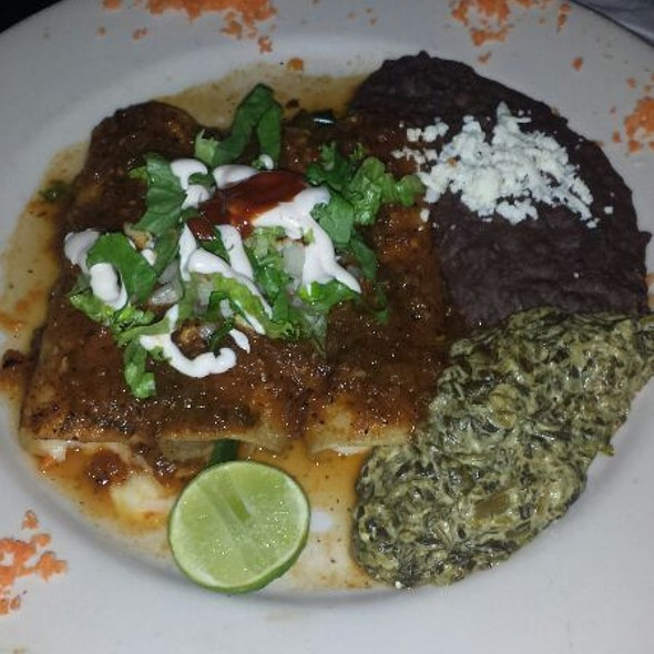 Cheese And Rajas Enchiladas  - Tila's Restaurante & Bar, Houston, TX