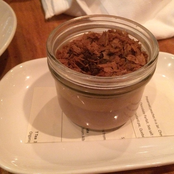 milk chocolate parfait - CHARCUT, Calgary, AB