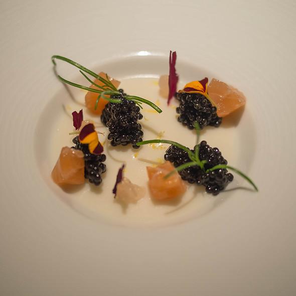 Osetra Caviar, Cauliflower, Saumon Fume, Rose Gel - Baume Restaurant, Palo Alto, CA