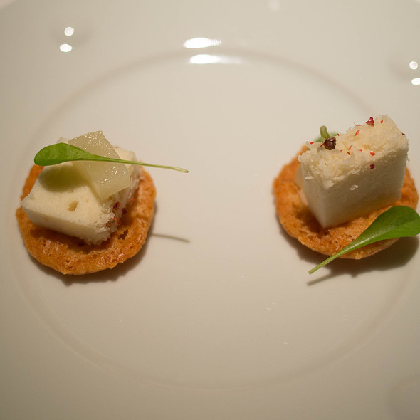 Beaufort Cheese Cracker, Parmesan Marshmellow, Concord Grape - Baume Restaurant, Palo Alto, CA