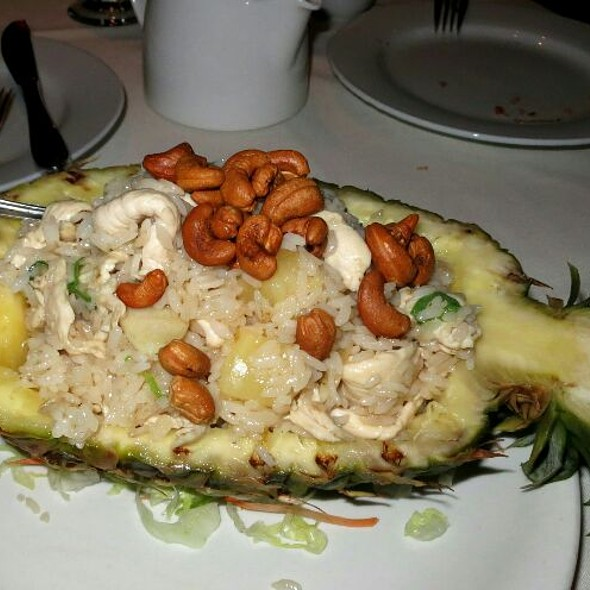 Pineapple Fried Rice with Chicken - Typhoon Asian Bistro, Boston, MA