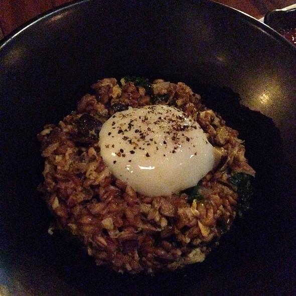 Duck Fried Farro, Poached Egg, Mushrooms - ChoLon Modern Asian, Denver, CO